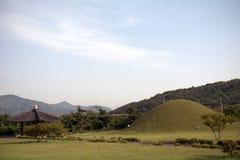 Royal tombs, Geongju, Korean Republic Stock Photo