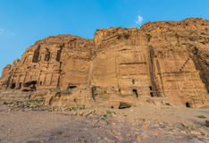 Royal tombs in Nabatean city of  Petra Jordan Royalty Free Stock Images