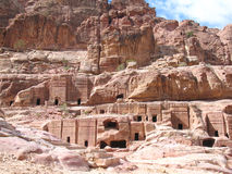 Royal Tombs in Petra Royalty Free Stock Image