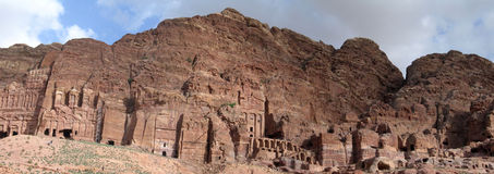 Royal Tombs in Petra stock image