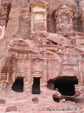 Royal Tombs in Petra Stock Images