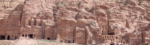 Royal Tombs in Petra Stock Photography