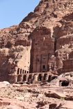 Royal Tombs at Petra Royalty Free Stock Photography