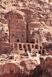 Royal Tombs at Petra. Royal tombs in the ancient Nabatean ruins of Petra Royalty Free Stock Photo