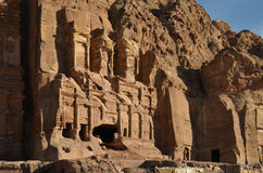 Royal Tombs, Petra Royalty Free Stock Photography