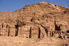Royal tombs, Petra, Jordan Royalty Free Stock Photos