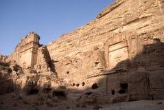 Royal tombs, Petra, Jordan Stock Photo