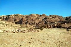 Royal tombs, Petra,Jordan Stock Image