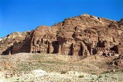 Royal tombs, Petra,Jordan Royalty Free Stock Photos