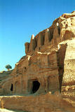 Royal tombs, Petra,Jordan Stock Photo