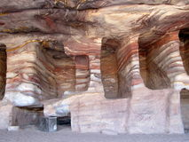 Royal Tombs Petra Jordan. Dating back 70 AD of Nabatean era these mystic burials or the then royalty look all the more alluring because of the colourful minerals Stock Photography