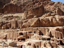 Royal Tombs Petra Jordan. Dating back Nabatean era these mystic burials or the then royalty were cut in rocks Royalty Free Stock Photography