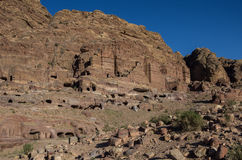 Royal Tombs. Petra, Jordan. Stock Photo