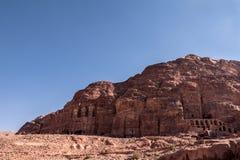Royal Tombs at Petra Stock Photo