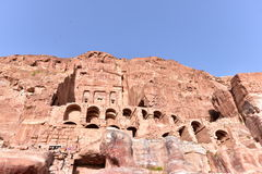 The Royal Tombs of Petra Royalty Free Stock Photos