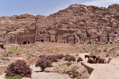 The Royal Tombs of Petra Stock Images