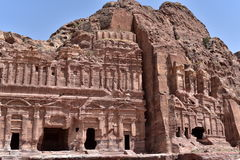 The Royal Tombs of Petra Stock Image