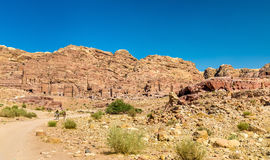 The Royal Tombs at Petra, UNESCO world heritage site Royalty Free Stock Photography