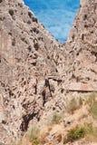 Royal Trail (El Caminito del Rey) in gorge Chorro, Malaga provin Royalty Free Stock Photos