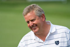 Royal Trophy golf tournament, Asia vs Europe 2010. BANGKOK, THAILAND - JANUARY 9: Scottish golf player and team captain Colin Montgomerie at the Royal Trophy Royalty Free Stock Photos