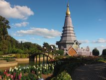 Royal Twin Pagodas Royalty Free Stock Images