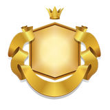 Royal, Vector label and gold ribbon banner, Royalty Free Stock Images