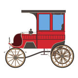 Royal vector red carriage. Royalty Free Stock Images