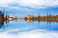 Royal Victoria Dock in East London Royalty Free Stock Photography