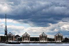Royal Victoria Dock Houses Royalty Free Stock Image