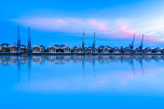 Royal Victoria Dock at Sunset Royalty Free Stock Photography