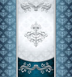 Royal Victorian background with seamless pattern Royalty Free Stock Images