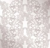 Royal Victorian Pattern Ornament. Vector Rich Rococo Backgrounds. Pale Lavender Color Stock Photography