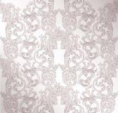 Royal victorian pattern ornament. Vector Rich rococo backgrounds. Pale lavender color. Royal victorian pattern ornament. Vector Rich rococo background. Pale stock illustration