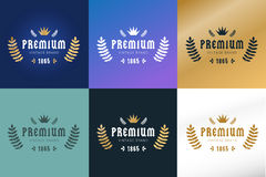 Royal vintage premium logo badge icon template Stock Images