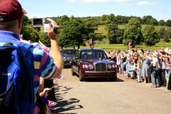 Royal Visit, Derbyshire, UK. Royalty Free Stock Photos