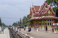 The Royal waiting room at Hua Hin railway station. Hua Hin railway station is one of the oldest in Thailand and its main feature is The Royal Waiting Room that Royalty Free Stock Photography