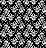 Royal wallpaper with classic black-and-white seamless floral pattern. Stock Images