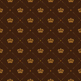 Royal wallpaper seamless pattern with crown and decorative elements. Luxury background Royalty Free Stock Image
