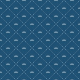 Royal wallpaper seamless pattern with crown and decorative elements. Luxury background Royalty Free Stock Photos