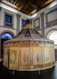 Royal war tent in museum Royalty Free Stock Photo