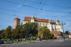 Royal Wawel Castle and Cathedral in Krakow Poland attract visitors from all over the World. It is used as a venue for performances royalty free stock images