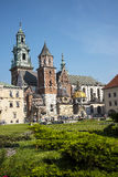 Royal Wawel Castle and  Cathedral in Krakow Poland Stock Image