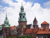 Royal Wawel Castle  and Cathedral in Krakow Poland Stock Images