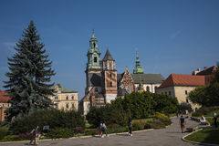 Royal Wawel Castle and Cathedral In Krakow Poland Royalty Free Stock Images