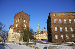 Royal Wawel Castle complex in Krakow Royalty Free Stock Images