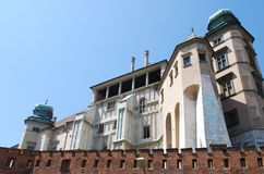 Royal Wawel Castle in Cracow Royalty Free Stock Photography