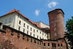 Royal Wawel Castle, Cracow Royalty Free Stock Photos