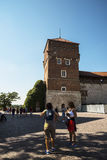 Royal Wawel Castle Garden in Krakow Poland Stock Image