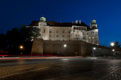 Royal Wawel Castle at hight, Krakowe, Poland Stock Image