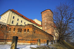 Royal Wawel Castle in Krakow Stock Image